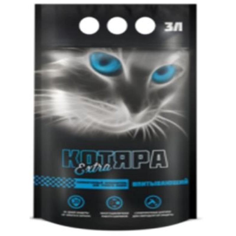 Котяра Extra Наполнитель для кошек силикагелевый