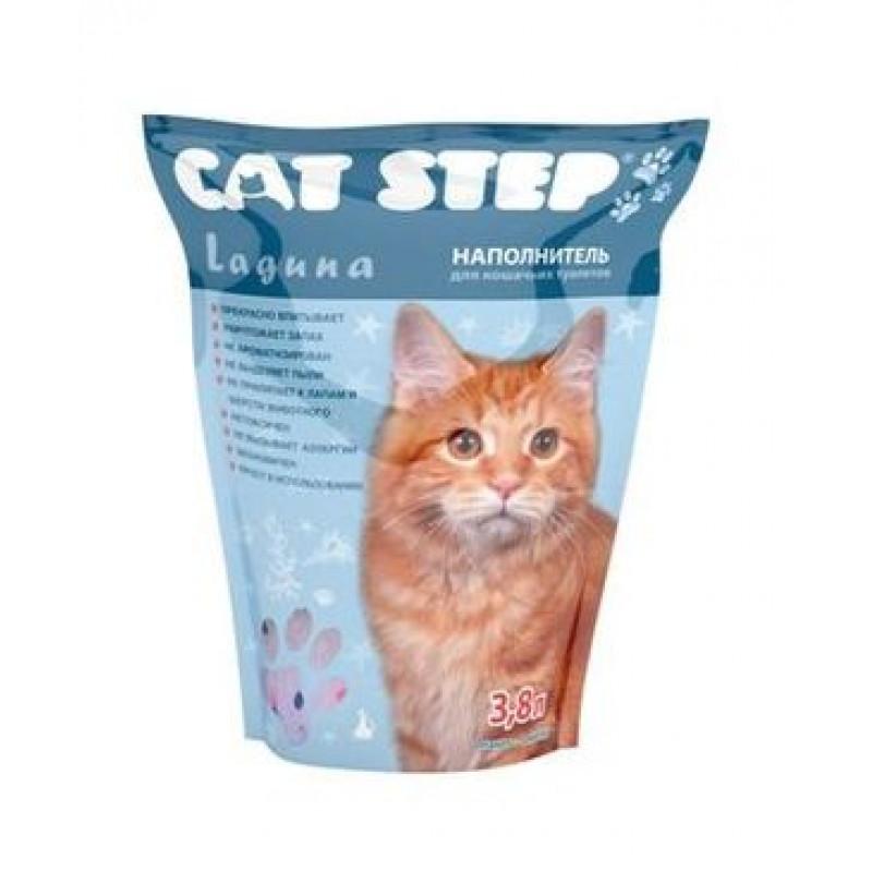 """Cat Step  Наполнитель силикагель """"Лагуна"""" 1,67кг"""