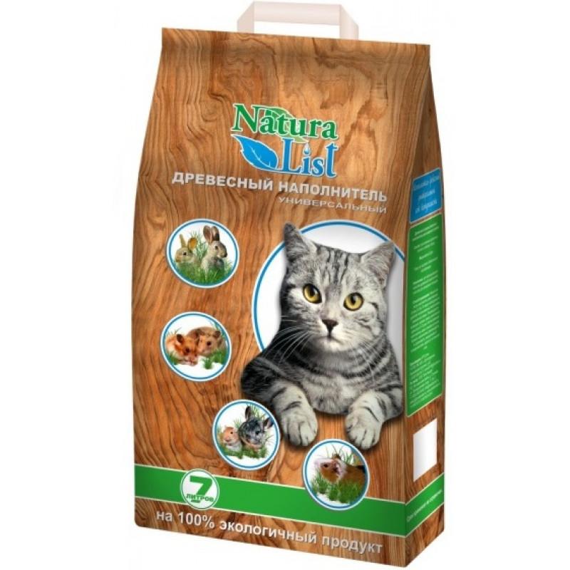 NaturaList наполнитель для кошек Универсальный (Древесные гранулы)