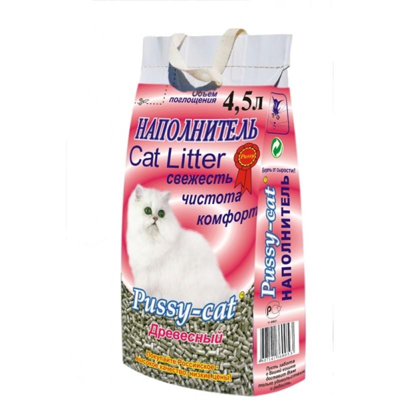 Pussy Cat Древесный Наполнитель для кошек
