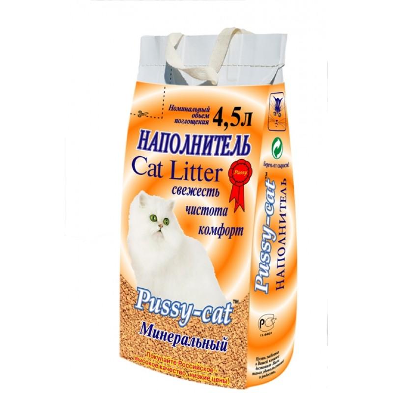 Pussy Cat Минеральный Наполнитель для кошек