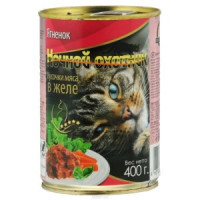Ночной Охотник  кон.д/кошек Ягненок 400г