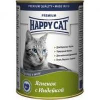Happy cat  кон.д/кошек Ягненок и Индейка кусочки в желе 400гр