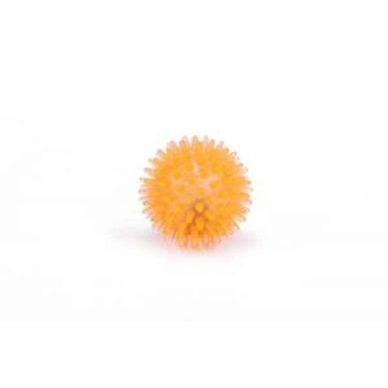 """Игрушка д/кошек """"Мяч светящийся"""" оранжевый, TPR 5см"""