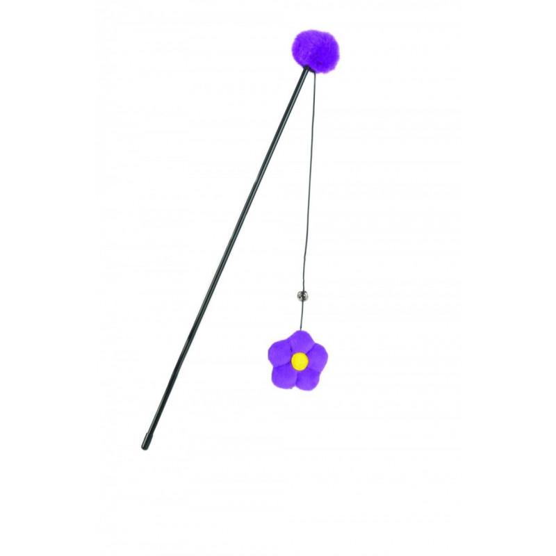 Игрушка д/кошек Удочка с цветком 40см