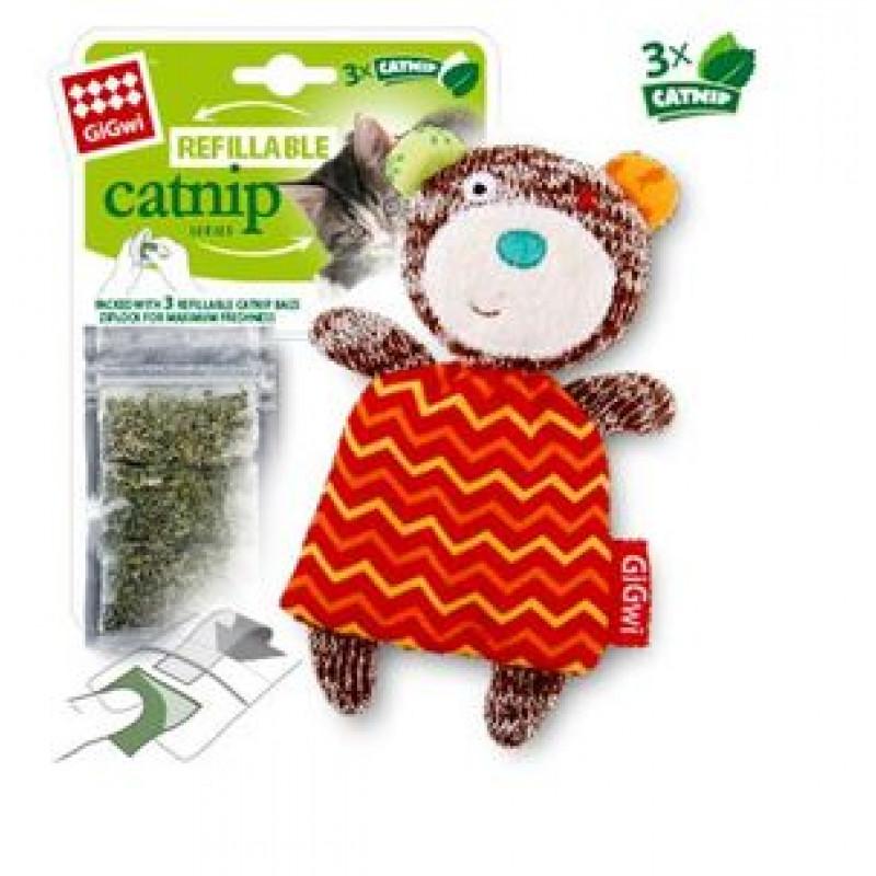 Игрушка д/кошек Мишка с кошачей мятой 12см 1*100