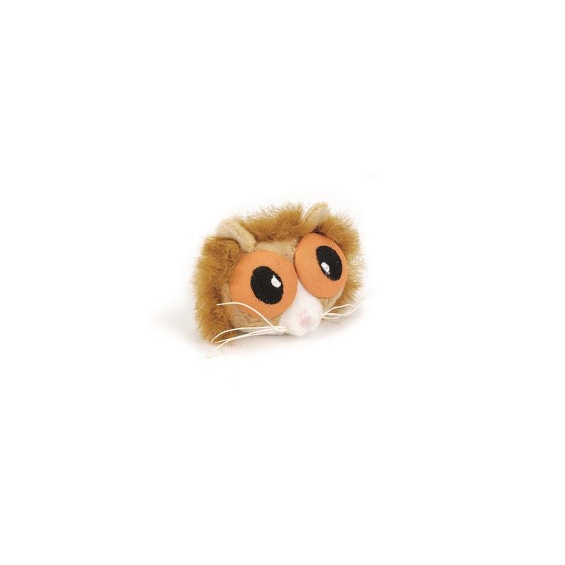Игрушка д/кошек Белка с большими глазами, плюш 6см
