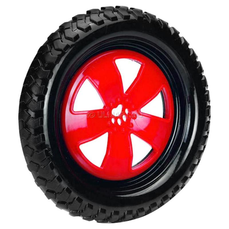 """Игрушка д/собак """"Фрисби-колесо"""" черно-красное, TPR 24см"""