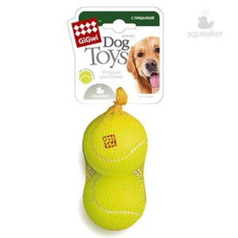 Игрушка д/собак 2 мяча с пищалкой Большие 8см*80