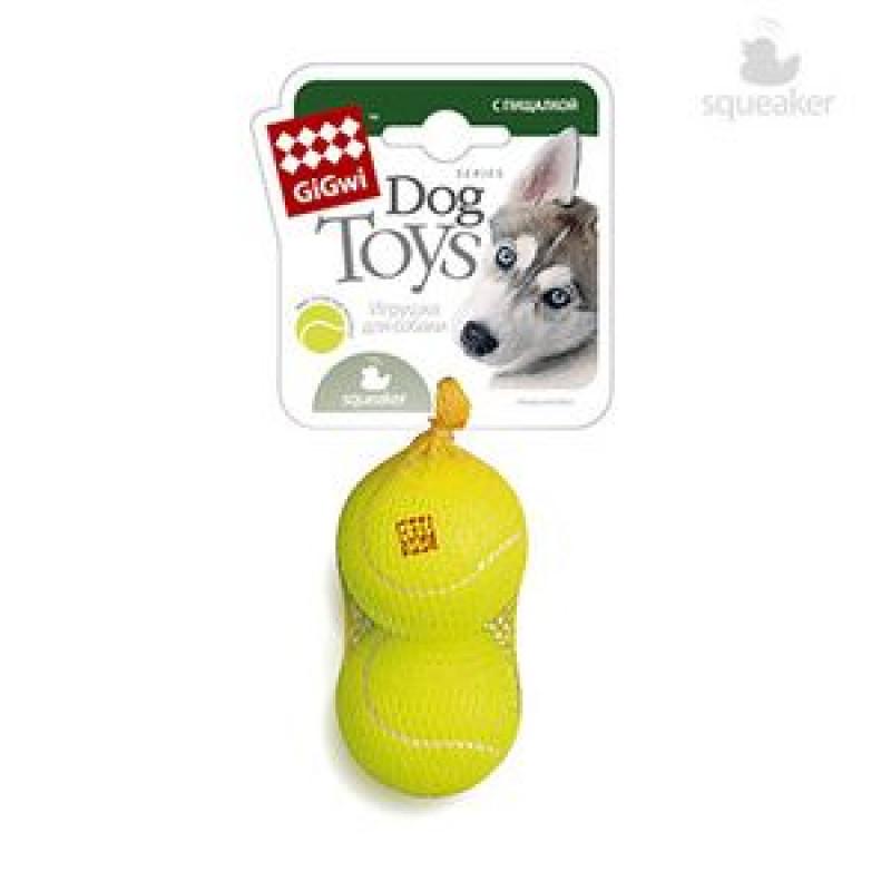 Игрушка д/собак 2 мяча с пищалкой Средние 6см*60