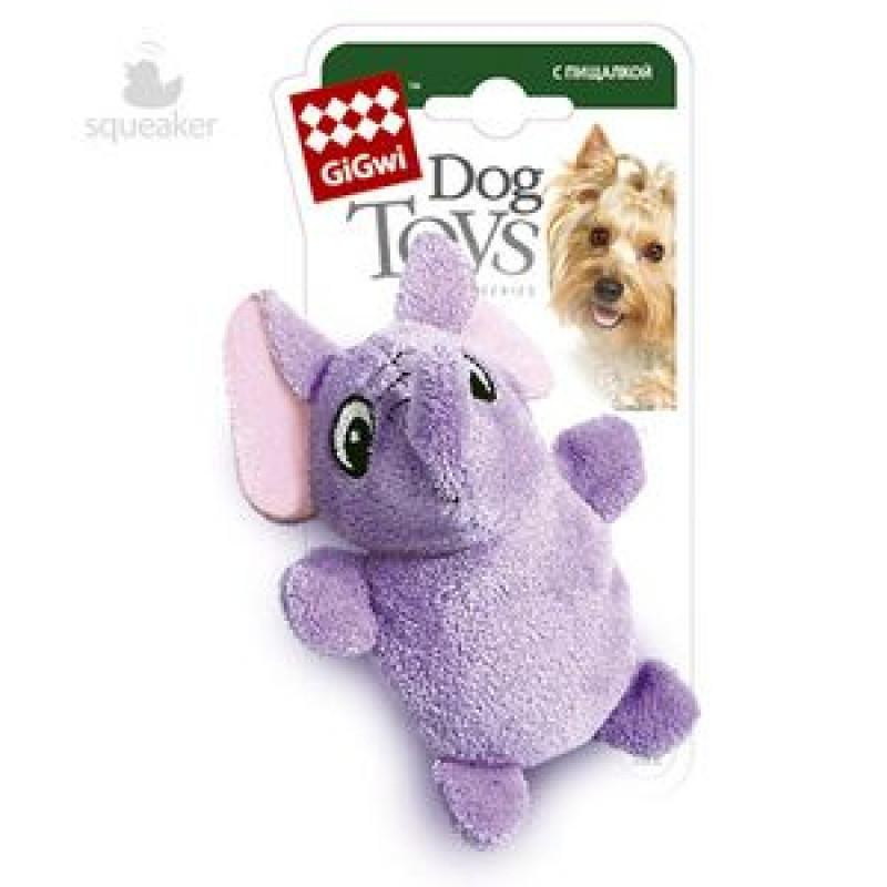 Игрушка д/собак Слон с 2-мя пищалками