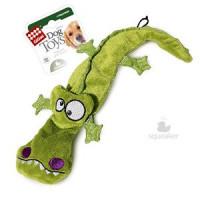 Игрушка д/собак Крокодил с 4-мя пищалками 1*48