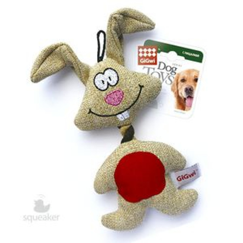 Игрушка д/собак Заяц с пищалкой 1*48