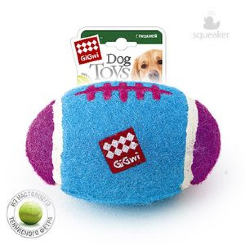 Игрушка д/собак Большой регби - мяч с пищалкой 26см*24