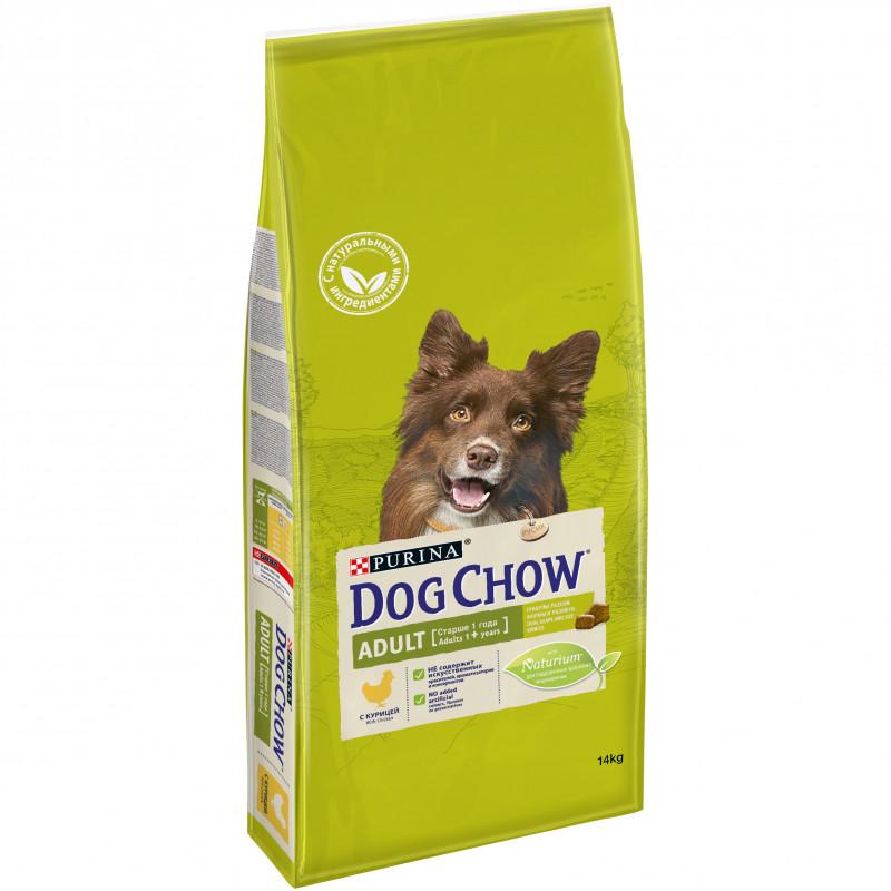Dog Chow Adult Chicken`Rice Корм для взрослых собак старше 1 года с Курицей и Рисом 14кг