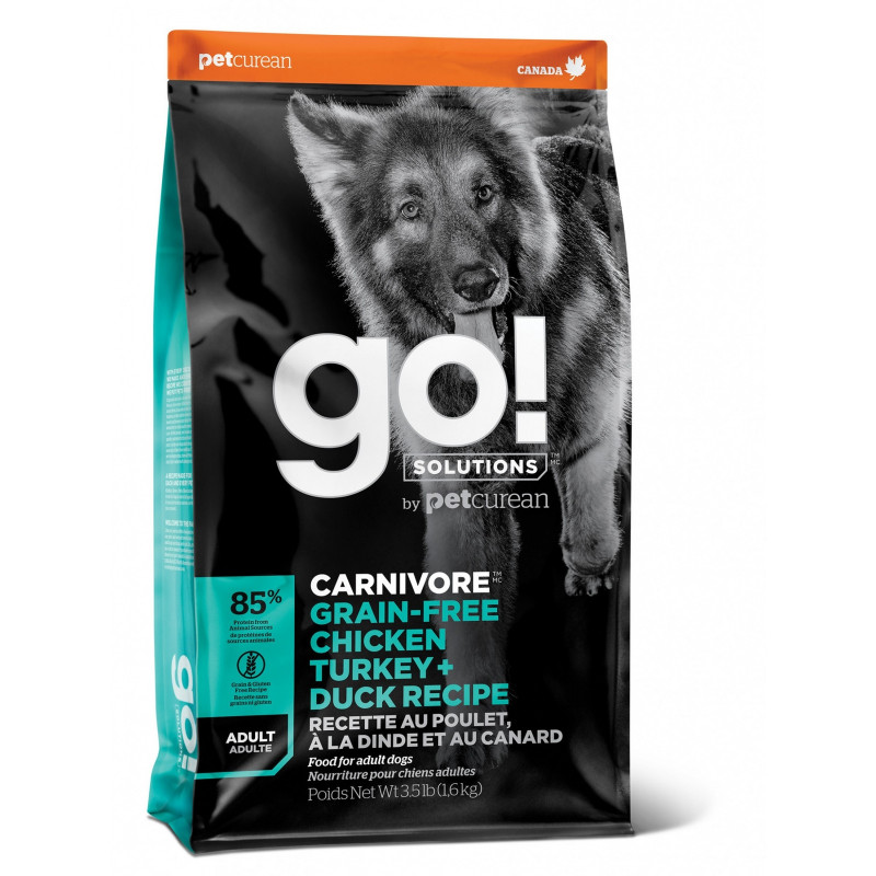 GO ™ Fit + Free Grain Free All life Stages Беззерновой для собак всех возрастов 4 вида мяса: индейка, курица, лосось, утка