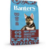 Banters Puppy Junior Chicken&Rice Полнорационный корм для щенков всех пород, беременных и кормящих сук, с курицей