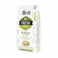 Brit Fresh Duck With Millet Adult Run & Work корм со свежей уткой и пшеном для взрослых собак с повышенной активностью