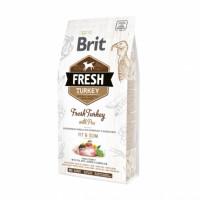 Brit Fresh Turkey With Pea Adult Fit  корм со свежей индейкой и горошком для взрослых собак со сниженной активностью, избыточным весом и/или пожилых собак