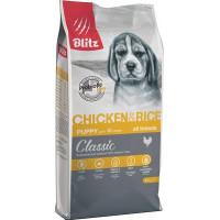 BLITZ для щенков всех пород с курицей и рисом 15 кг