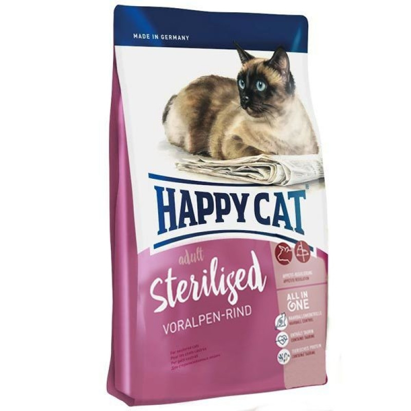 Happy Cat Fit & Well Adult Sterilised Сухой корм для стерилизованных кошек и кастрированных котов 10кг