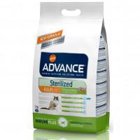 Advance Cat Sterilized Turkey Корм для кастрированных котов и стерилизованных кошек с индейкой