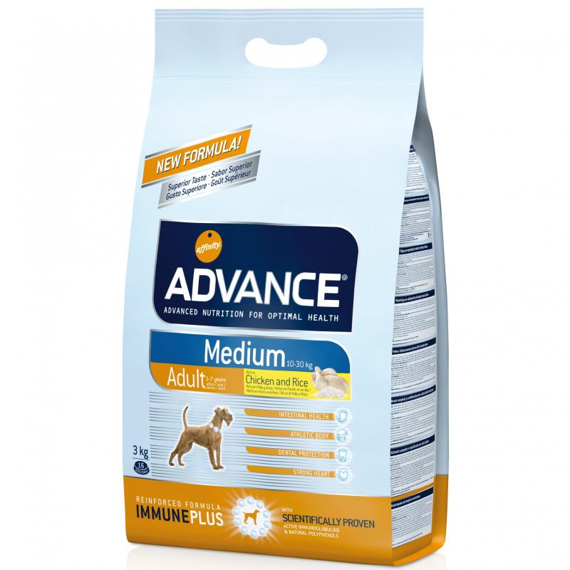 Advance Adult Medium Chicken & Rice Сухой корм для взрослых собак средних пород с курицей и рисом 18кг