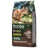 Monge Cat BWild Grain Free с мясом буйвола Сухой беззерновой корм для крупных пород кошек