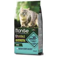 Monge Cat BWild Grain Free с треской, картофелем и чечевицей Сухой беззерновой корм для кошек 1.5 кг