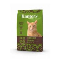 Banters Sterilized Fish&Rice Полнорационный корм для взрослых стерилизованных кошек и кастрированных котов от 12 месяцев и старше, с рыбой