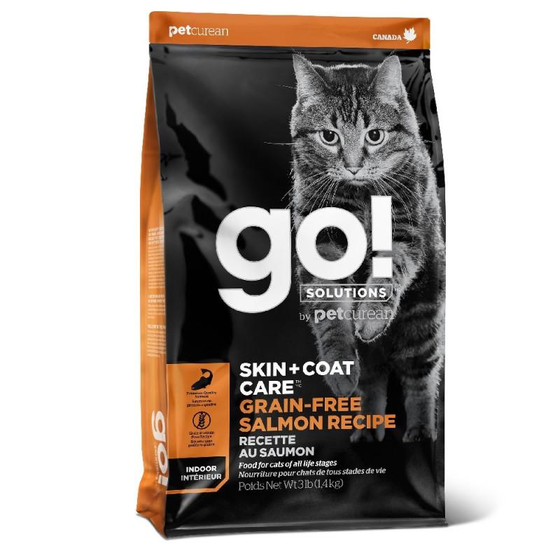 GO! SKIN + COAT Grain Free Salmon Recipe CF Беззерновой сухой корм для Котят и Кошек с Лососем