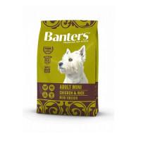 Banters Adult Mini Chicken&Rice Полнорационный корм для взрослых собак мелких пород (1-10 кг) от 10 месяцев до 8 лет, с курицей