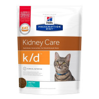 Hill's Prescription Diet k/d Kidney Care Tuna Сухой диетический корм для кошек при заболеваниях почек, с тунцом