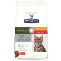 Hill`s Metabolic + Urinary Stress Cухой диетический корм для кошек для поддержания веса и здоровья мочевыводящих путей