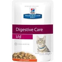 Hill's Prescription Diet i/d Digestive Care Пауч для кошек диета для поддержания здоровья ЖКТ с курицей