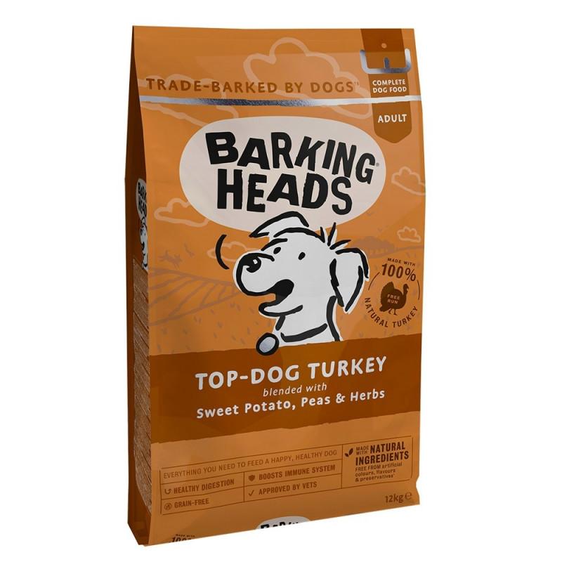 Barking Heads  Бесподобная индейка. Беззерновой корм для собак с индейкой и бататом
