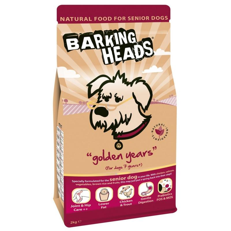 Barking Heads Золотые годы .Сухой корм для собак старше 7 лет с курицей и рисом