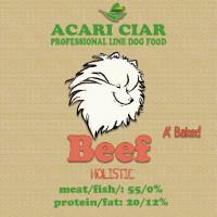Acari ciar  A'Baked Dog BEEF Телятина\рис Запеченный сбалансированный сухой корм класса холистик с телятиной для взрослых средних и мелких собак всех пород