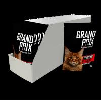 Grand Prix Телятина и Тыква Паучи для взрослых кошек, кусочки в соусе - УПАКОВКА 24 ШТ