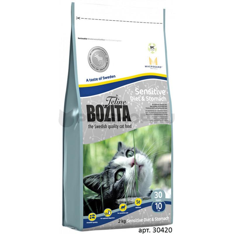 Bozita Funktion Sensitive Diet - Stomah Корм для взрослых кошек с чувствительным пищеварением