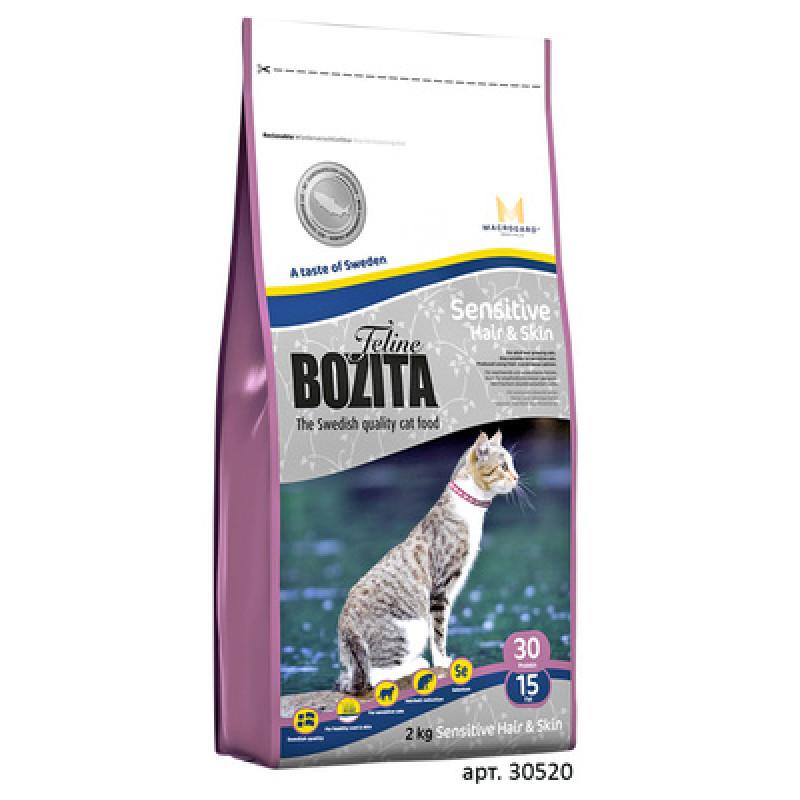 Bozita Funktion Sensitive Hair - Skin Корм для взрослых кошек с чувствительной кожей и шерстью