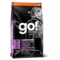 GO! беззерновой для пожилых собак всех пород 4 вида мяса: Индейка, Курица, Лосось, Утка, GO! CARNIVORE GF