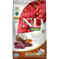 Farmina N&D New Беззерновой корм для взрослых собак всех пород для кожи и шерсти, с олениной, киноа, кокосом и куркумой