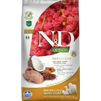 Farmina N&D New Беззерновой корм для взрослых собак всех пород для кожи и шерсти, с перепелом, киноа, кокосом и куркумой