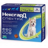 Фронтлайн Нексгард Спектра для собак весом 7,5-15 кг