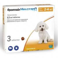 Фронтлайн Нексгард для собак весом 2-4 кг Жевательные таблетки от паразитов