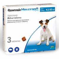 Фронтлайн Нексгард для собак весом 4-10 кг Жевательные (3 таблетки от паразитов)