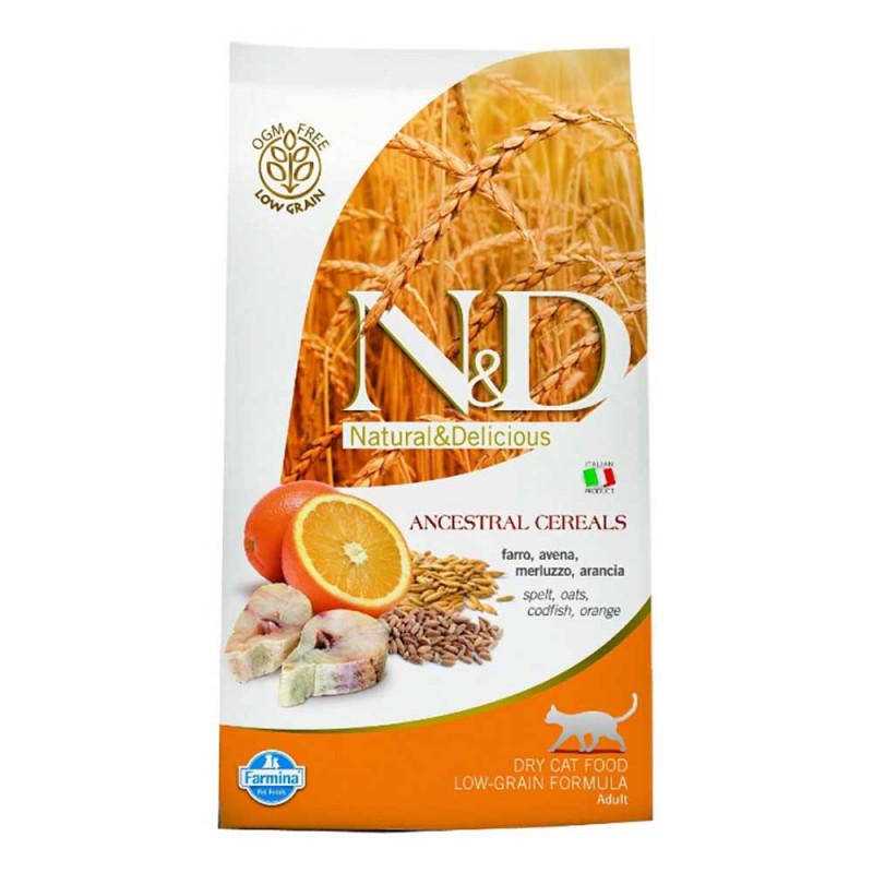 Farmina ND LG  Сухой корм для кошек всех попрод, Треска с Апельсином