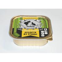 Консервированный полнорационный корм для кошек (кусочки в желе)  АССОРТИ ИЗ ПТИЦЫ (16 ШТ В УПАКОВКЕ)