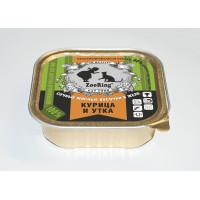 Консервированный полнорационный корм для кошек (кусочки в желе)  КУРИЦА И УТКА (16 ШТ В УПАКОВКЕ)